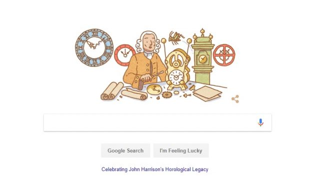John Harrison, Google Doodle For Clockmaker Who Invented Marine Chronometer