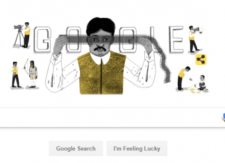 Dadasaheb Phalke Birthday Today, Google Doodle - 30 April 2018. (Photo: Google)