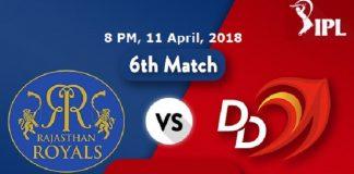 IPL 2018 Rajasthan Royals Vs Delhi Daredevils Hotstar Live Cricket Score Watch Match Streaming Online Free Star Sports 1 First TV