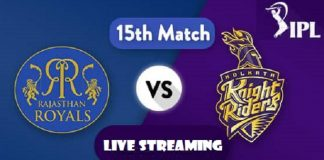 IPL Live Score, RR vs KKR Today Watch Online on Hotstar and TV Coverage on Star Sports Live