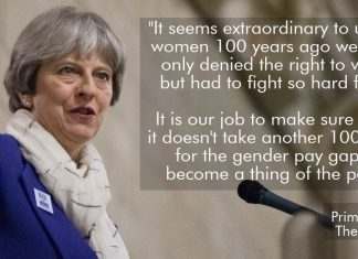 Prime Minister Theresa May on salary discrimination on gender basis. (Photo: Twitter @theresa_may)