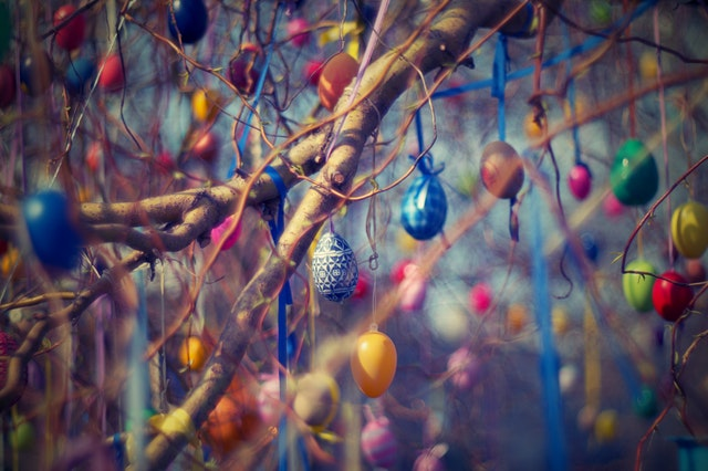 Easter Sunday, Easter Eggs on the Tree Photo