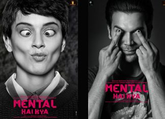 Poster of 'Mental Hai Kya' starring Kangana Ranaut and Rajkummar Rao.