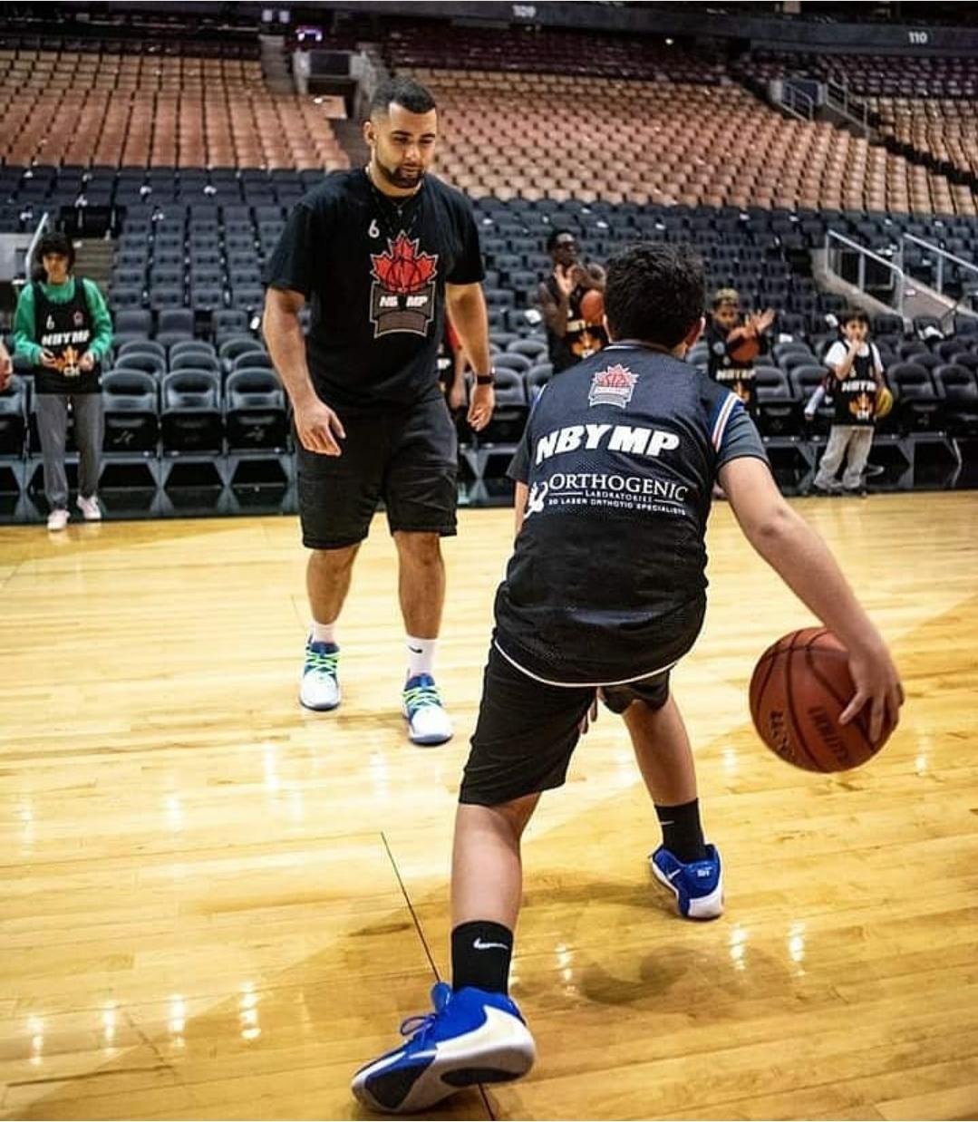 Jamil Abiad playing basketball